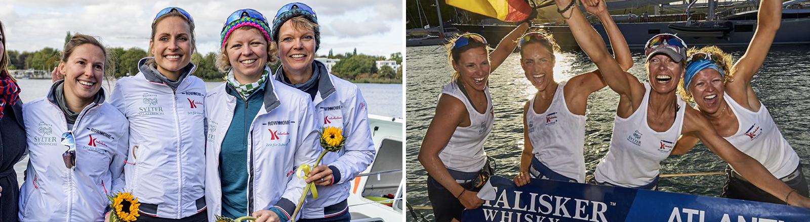 Vier Frauen rudern 42 Tage lang über den Atlantik.