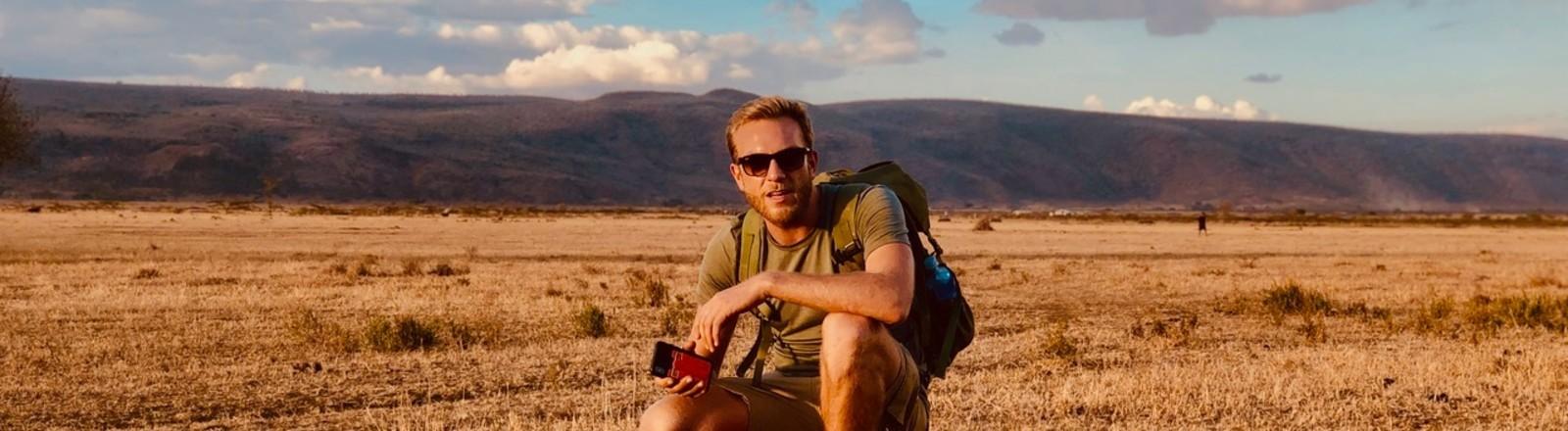 Gunnar Oberhösel in Afrika.
