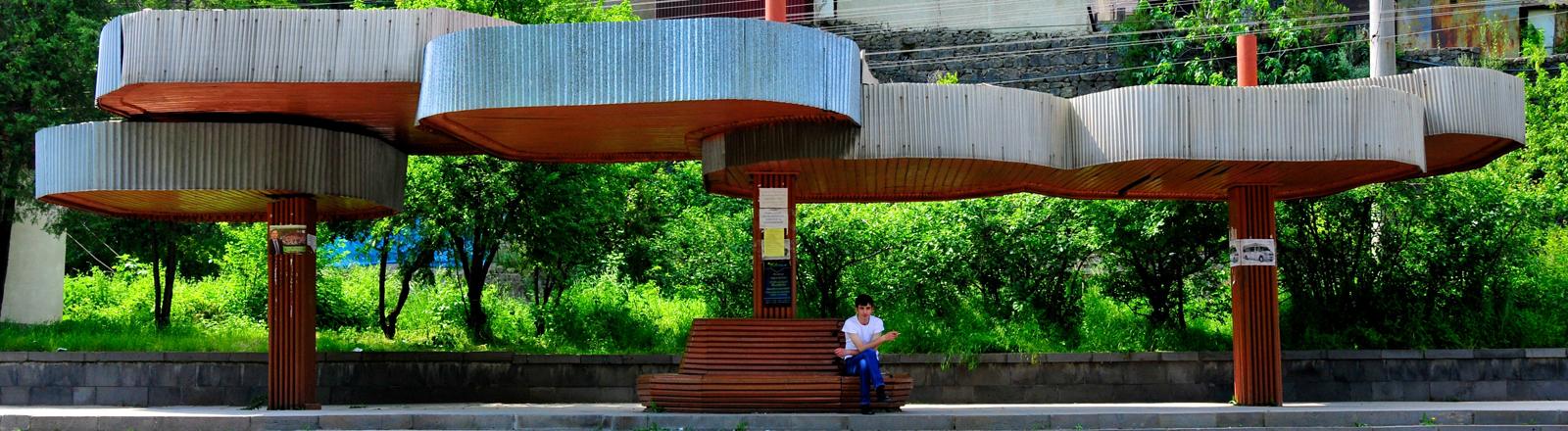 Bushaltestelle in Armenien