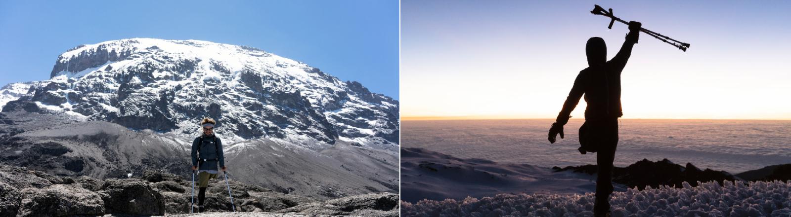 Tom Belz bei der Besteigung des Kilimandscharos