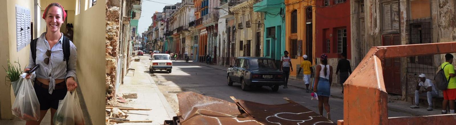 Studentin Mara Neugebauer, Straße in Havanna, Kuba
