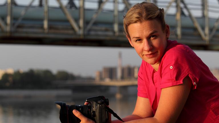 Portrait der Journalistin Christina Franzisket