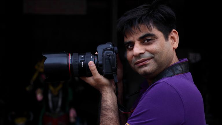 Portrait des Fotoreporters Nagender Chhikara