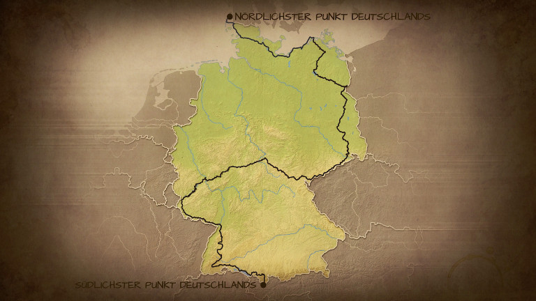 Karte: Enno Seifrieds Wanderroute durch Deutschland