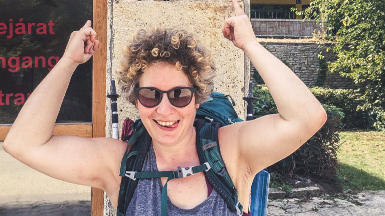 Die letzten 500 Kilometer kamen ihr vor wie ein Spaziergang: Rebecca Maria am Ziel in Budapest