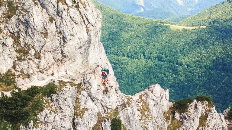 Rebecca Maria Salentin am Veľký Rozsutec in der Slowakei