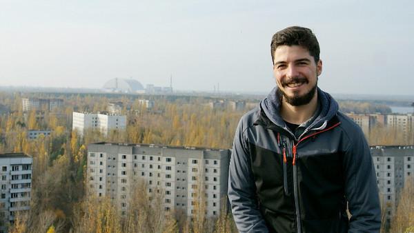 Reinhard Wagner in der Sperrzone von Tschernobyl