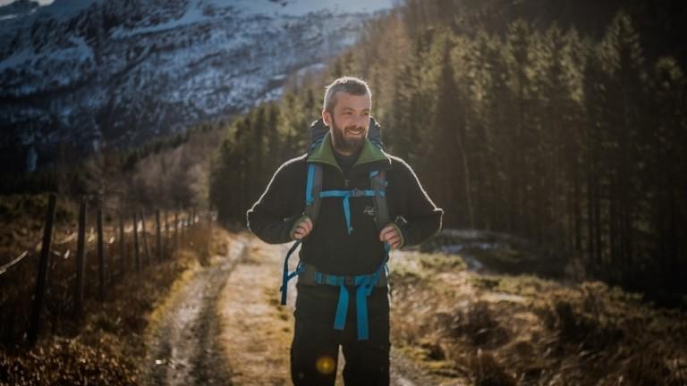 Timo unterwegs in der norwegischen Natur