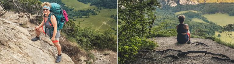 In den Bergen der Malá Fatra (links) und am Sulower Talkessel (rechts): Rebecca Maria Salentin unterwegs