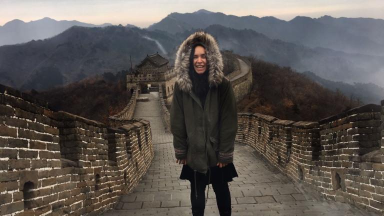 Nic Jordan auf der chinesischen Mauer