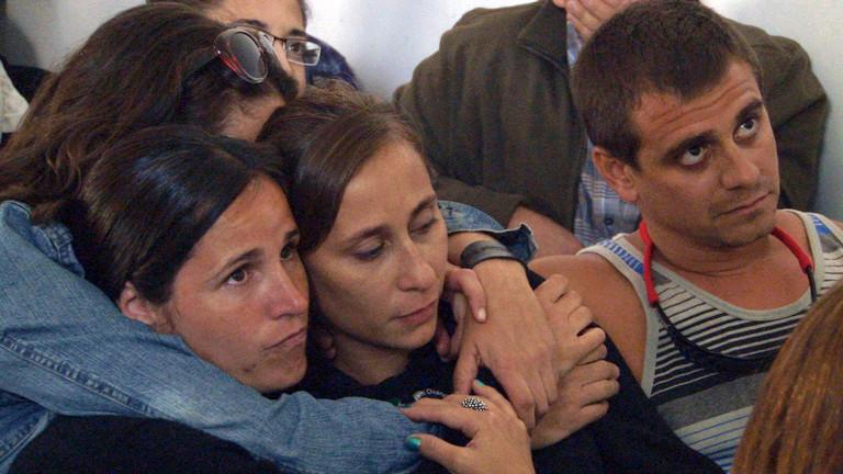 Catalina bei der Verkündung des Urteils gegen ihre Zieheltern im März 2013