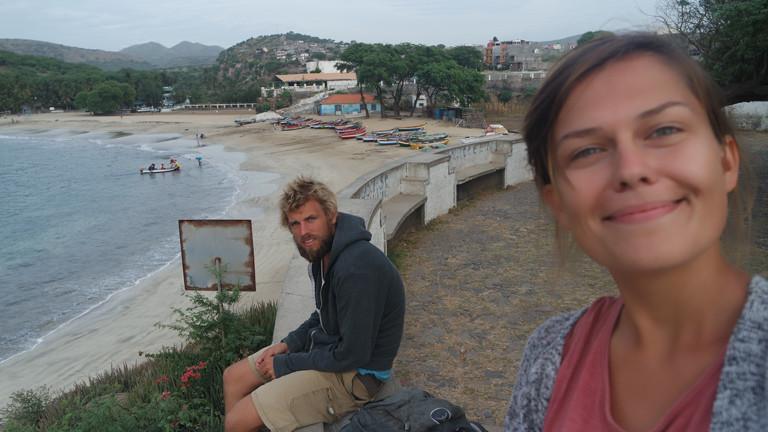 Benjamin Nerding mit seiner Freundin auf Kap Verde Mitte Dezember 2015.