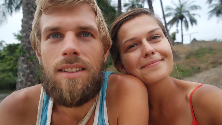 Benjamin Nerding mit seiner Freundin in Guinea-Bissau Anfang Dezember 2015.