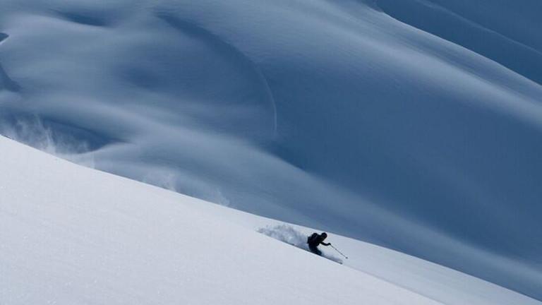 Skifahren in Kirgistan.