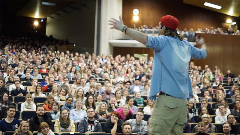 Nick bei seiner Show in Hamburg.