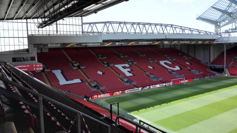 Anfield Stadion in Liverpool.