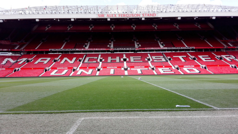 Old Trafford Stadion in Manchester.