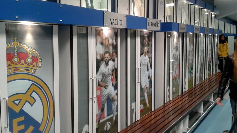 Umkleide im Stadion von Real Madrid.
