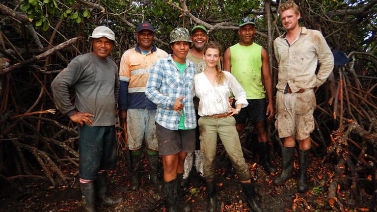 Gruppenbild mit Team am Ende des Projektes