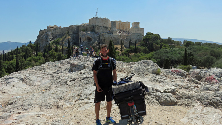 Christian Küpers nach seiner Ankunft in Athen