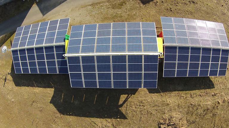 Solar-Strom-Container oder Solartainer von Africa Greentec von oben