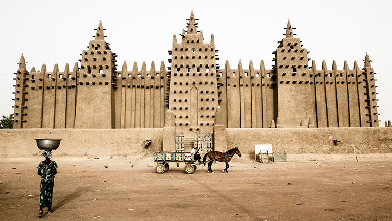 Moschee in Mali.
