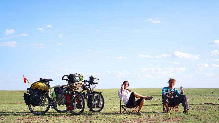 """Weltreisende Olga: """"Mit dem Fahrrad ist man absolut frei"""""""