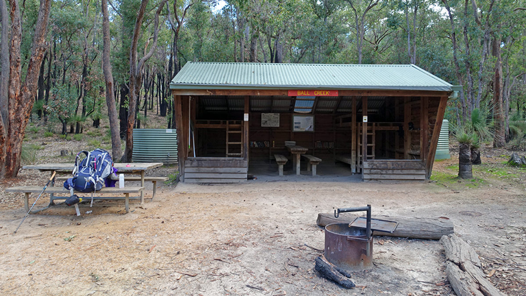 Schutzhütte auf dem Bibbulmun-Track