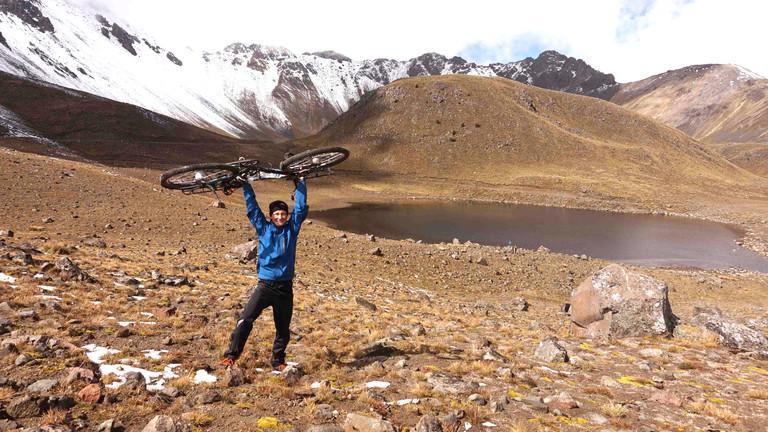Erloschener Vulkan in Mexiko: Jan Hörster hat den 4500 Meter hohen Nevado de Toluca erradelt.