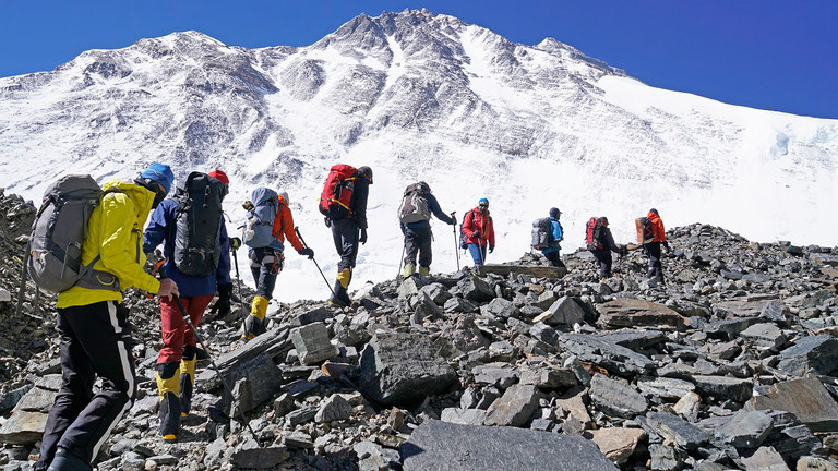 Julia Schultz auf dem Weg zum Mount Everest.