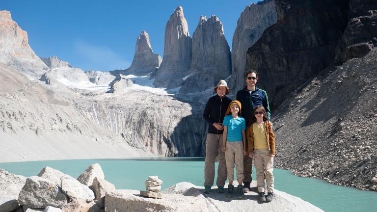 Am Gletscher Torres del Paine in Chile