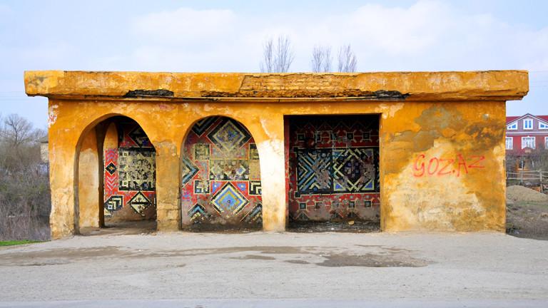 Haltestelle in Aserbaidschan