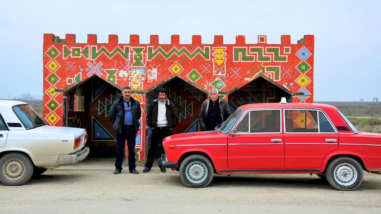 Bushaltestelle in Aserbaidschan