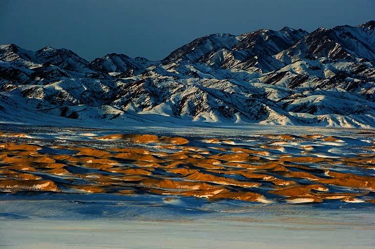 Die Wüste Gobi – aufgenommen im Januar 2012