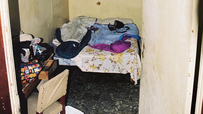 Hotelzimmer in Bangkok - oder besser Verschlag.