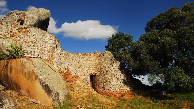 Bergruine in Groß-Simbabwe