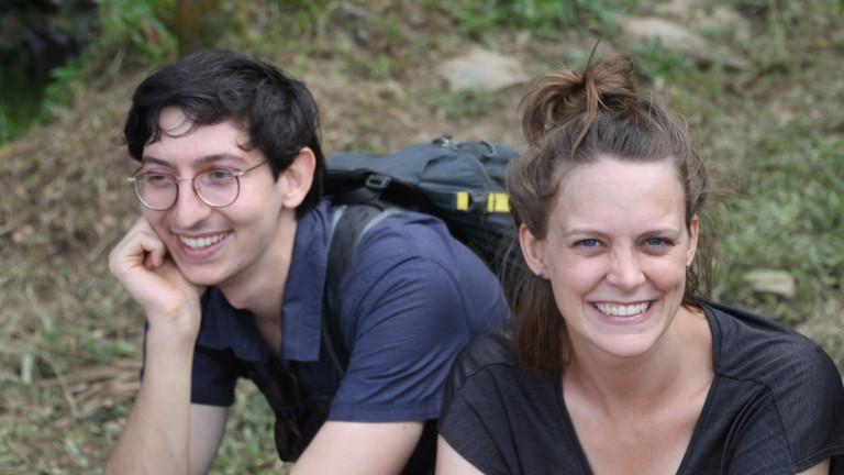 Lina und ihr Freund in Kikori