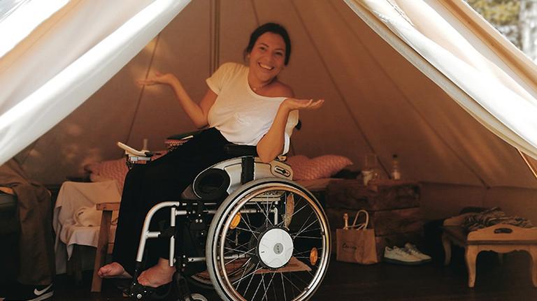 Zelten? Das geht auch mit dem Rollstuhl.