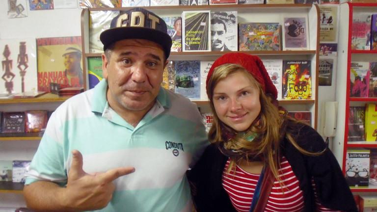 Charlotte Wagner mit dem Aktivisten und Hip Hop-Autor Alessandro Buzo