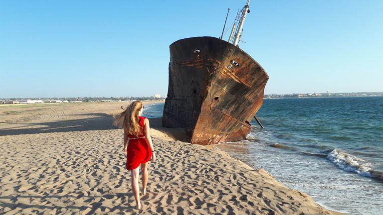 Schiffswrack in Angola