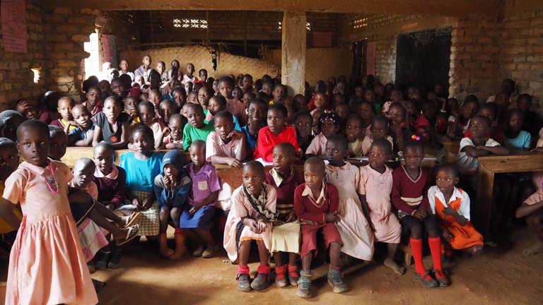 Grundschule im Masaka District Uganda.