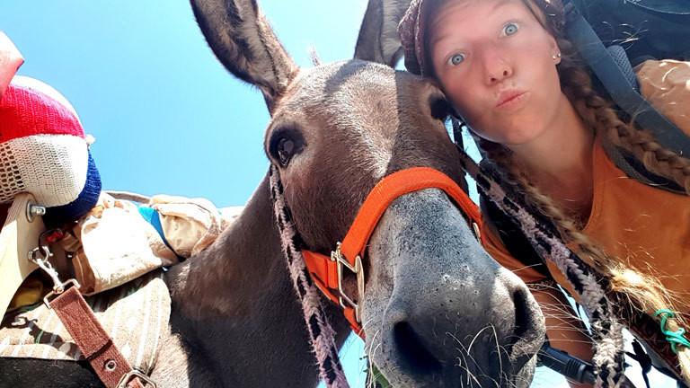 Lotta Lubkoll reist mit dem Esel quer durch Europa