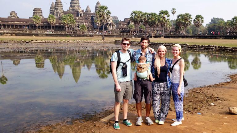 Siem Reap mit Familie.