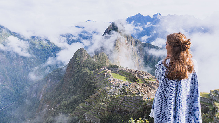 Steffi in Machu Pichu