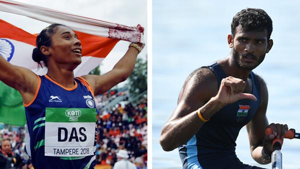 Ruderer Dattu Baban Bhokanal enttäuscht, Sprinterin Hima Das jubelt