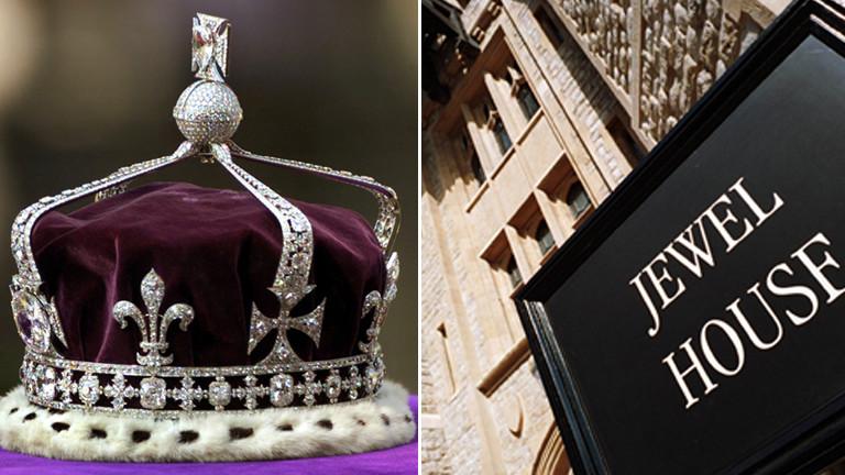 Krone von Queen Mum im Jewel House in London