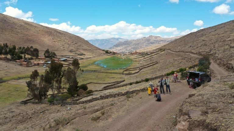 Daniel, Tina und ihre Familie in den Anden.