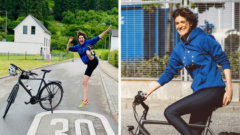 Ann van Wetteren fährt mit dem Fahrrad von Hamburg nach Luxemburg