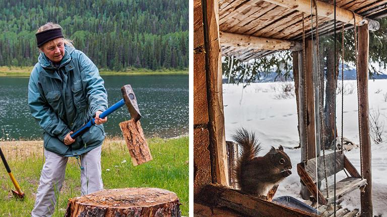 Carmen Rohrbach hat drei Monate in einer kanadischen Blockhütte überwintert.