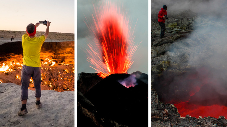 Reisefotograf Adrian Rohnfelder fotografiert Vulkane und Vulkanausbrüche.